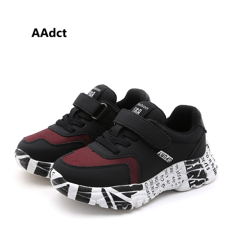 AAdct 2018 Autumn cotton running shoes for boys Breathable casual sports children shoes light bottom sneakers kids shoes winter aadct 2018 new spring autumn casual sports children shoes breathable leather shoes for girls boys soft sneakers kids shoes
