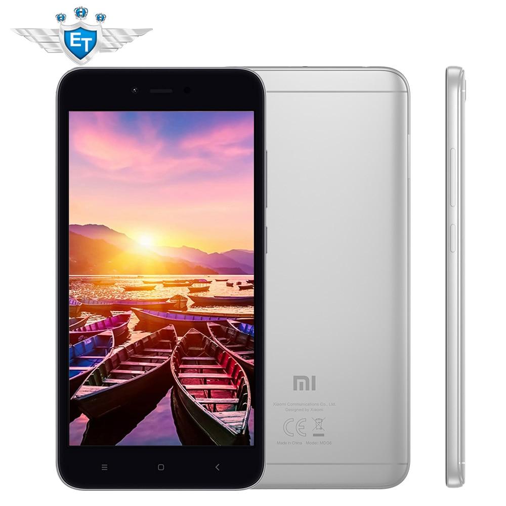 Xiaomi Redmi Note5A Примечание 5A Глобальный Версия Смартфон Snapdragon 425 4 ядра 16 ГБ Встроенная память 2 ГБ Оперативная память 5.5 ''13MP google Pla