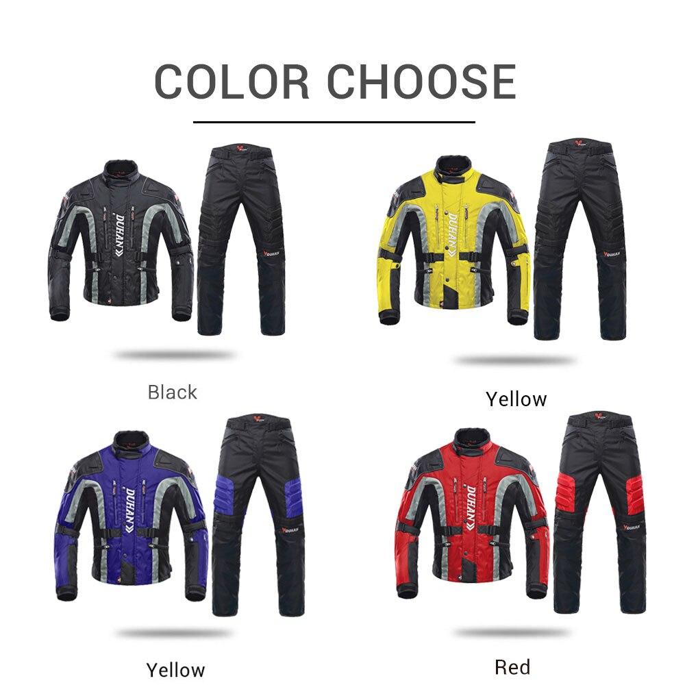 DUHAN automne hiver veste de Moto résistant au froid Moto + protecteur Moto pantalon Moto costume Touring vêtements ensemble de vêtements de protection - 4
