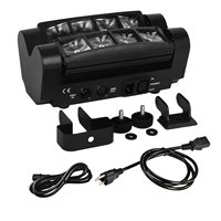 8X3W LED Spider Moving Head Light Beam Wash Spot Light Stage Light DMX512 RGBW Stage Disco