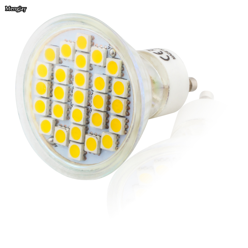 20X GU10 3.5W 27pcs 5050 SMD Led Spotlights Lamp AC220V 240V Warm White / Cool White Led Bulbs Light for home Lampada lamp - 6
