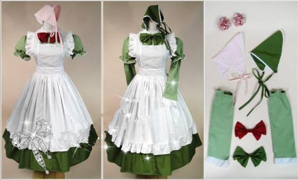 Anime APH Maid Apron Dress Axis Powers Hetalia Hungary Cosplay Costume