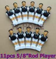 """จัดส่งฟรี22ชิ้น/ล็อตสีดำ/ขาว5/8 """"ก้านF Oosballฟุตบอลตารางฟุตบอลคนเครื่องเล่นผู้ชายอะไหล่06"""