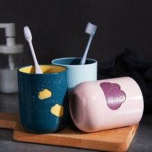 Чашка для зубных щеток с рисунком облака, кружка для мытья зубов, прочные чашки для пар с большим горлышком, Товары для ванной комнаты, чашка для мытья