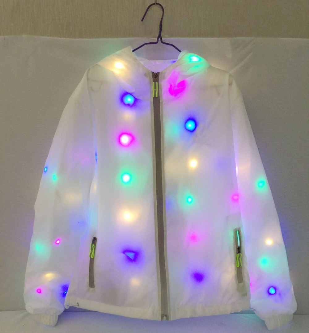 Waterproof Colorful Led Luminous Clothing Dance LED Flash Jacket Clothes Activity Party Performance Supplies