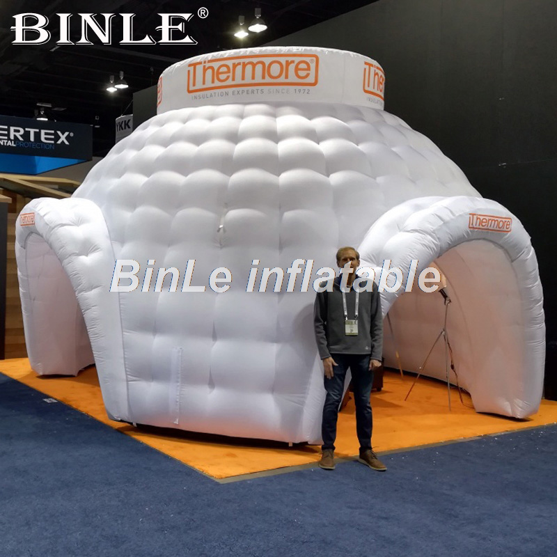 Factory Price Pop up Lawn Event Gazebo Outdoor Advertising Canopy Inflatable Dome Tent For Exhibition trade show exhibition tent commercial advertising inflatable tent house for event china factory outdoor inflatable igloo tent