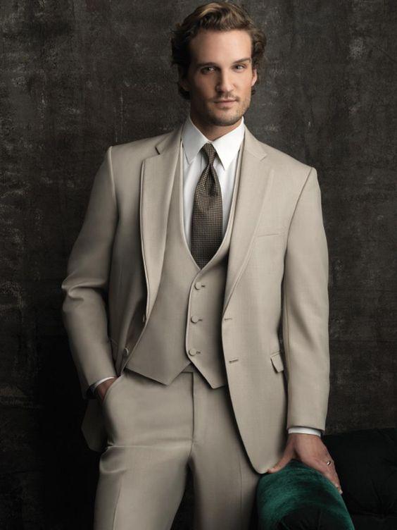 2018 хаки мужской костюм Простой винтажный итальянский смокинг Формальные костюмы для свадьбы Вечеринка портной сделанный деловой пиджак 3 шт