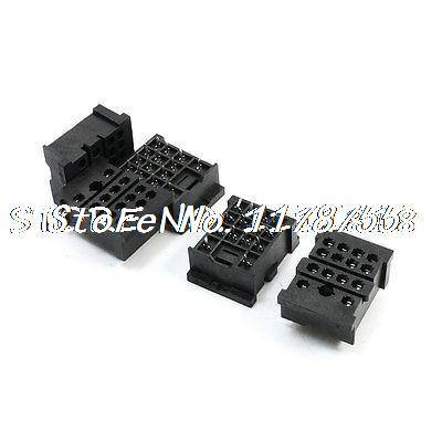 5 Pieces PYF14A PCB Plug-in Type 14 Pin MY4 Series Relay Socket Base 10pcs pyf14a 14 pin terminal relay socket base black for my4nj base hh54p power relay