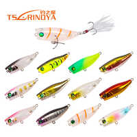 New Peche 40mm 3g Mini Popper Topwater Fishing Wobblers Fishing Lure Floating Artificial Bait Iscas Popper