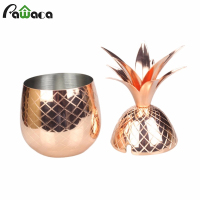1pc Pineapple Tumbler Cocktail Cups Mugs Wine Beer Glass Stainless Steel Drinking Mugs Christmas Birthday Gift Bar Tool 500ML