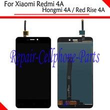 Продажа Черный Новый Полный ЖК-дисплей Дисплей + Сенсорный экран планшета Ассамблея + рамка для Xiaomi Redmi 4A/Hongmi 4A/ красный талии 4A