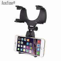 Aoxfune Universal Car Phone Holder 360 Degrees Car Rearview Mirror Mount Holder For Mobile Phone GPS