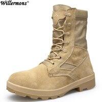 2018 для мужчин открытый высокие армейские ботинки обувь военная Униформа тактические ботинки для пустыни botas hombre