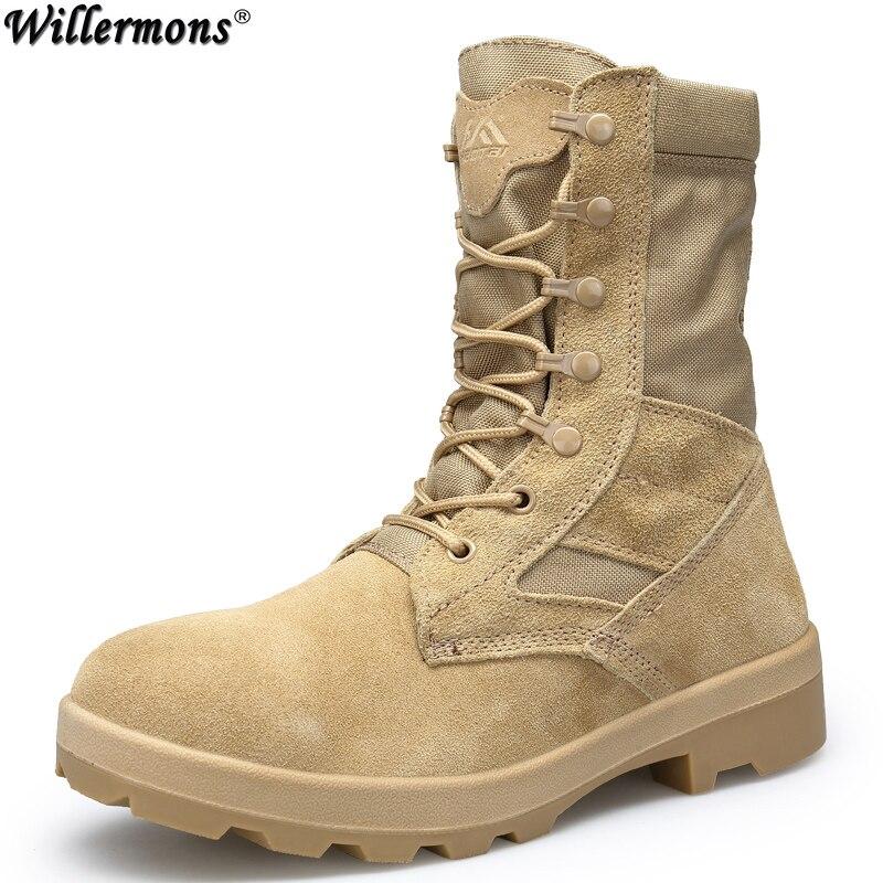 2018 Men's Outdoor High Top Army Combat Boots Shoes Men Military Tactical Desert Boots Botas Hombre men military delta special force tactical boots men s army outdoor desert combat boots shoes botas hombre