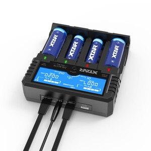 Image 5 - Nowa oryginalna XTAR DRAGON VP4 PLUS inteligentna bateria ChargerSet z etui sondy Adapter i ładowarka samochodowa dla 18650 i akumulator