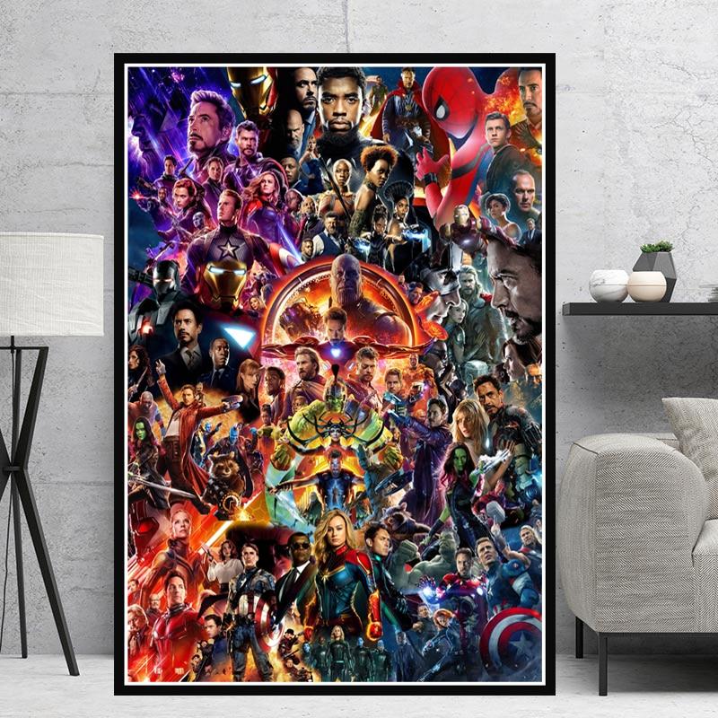 "Avengers End Game Poster Iron Man Marvel Movie Art Print 24x36/"" 27x40/"" 32x48/"""