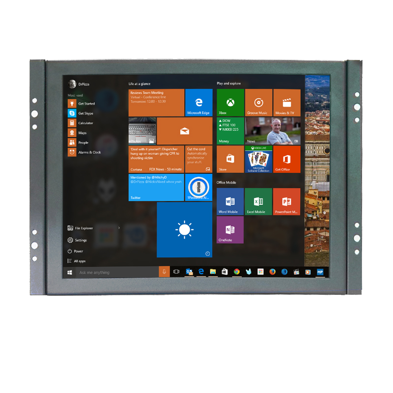 1024x768 High Resolution 4 3 Mini 8 Inch VGA Touch Monitor HDMI Monitor With Resistive Touch