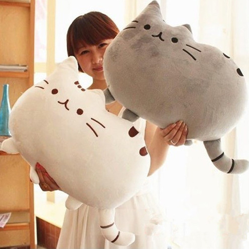 40x30cm Pusheen Cat Plush Toys Stuffed Animal Doll Animal Pillow Toy Pusheen Cat For Kid Kawaii Cute Cushion Brinquedos Gift 2015 kawaii biscuits cats 40 30cm cute stuffed animal plush toys dolls pusheen shape pillow cushion for kid home decoration