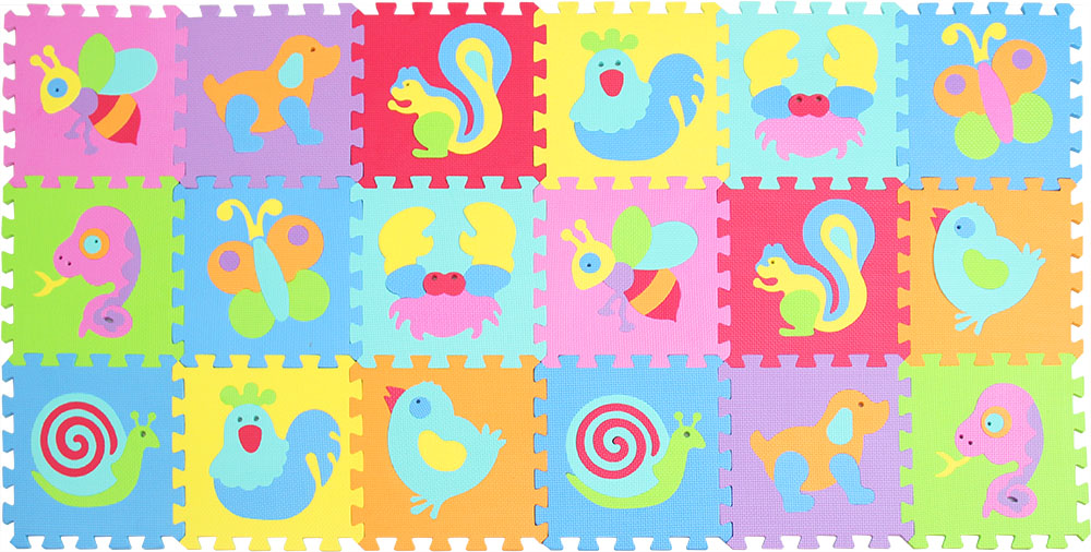 EVA foam puzzlen/baby play mat foam play Puzzle mat / 18pcs/36pcs lot Interlocking Exercise TilesEach 30cmX30cm