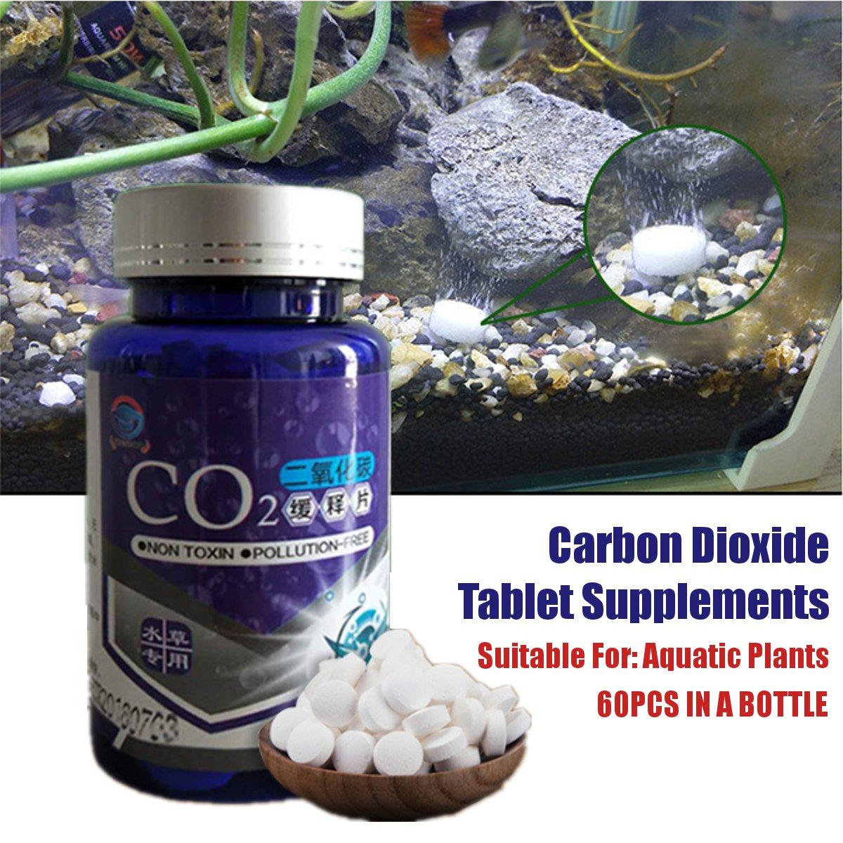 60pcs CO2 Tablet Water Grass Aquarium Plants Aquatic Leaf Float Grass CO2 Carbon Dioxide Slice Diffuser Producer For Fish Tank