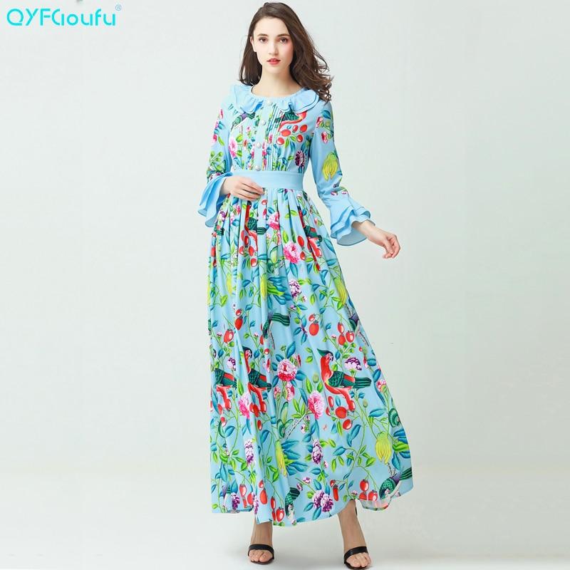 Free DHL Runway Designer Maxi Dress 2018 New Womens Fashion High Quality  Mesh Embroidered Elegant Long ... 6aac96f37507