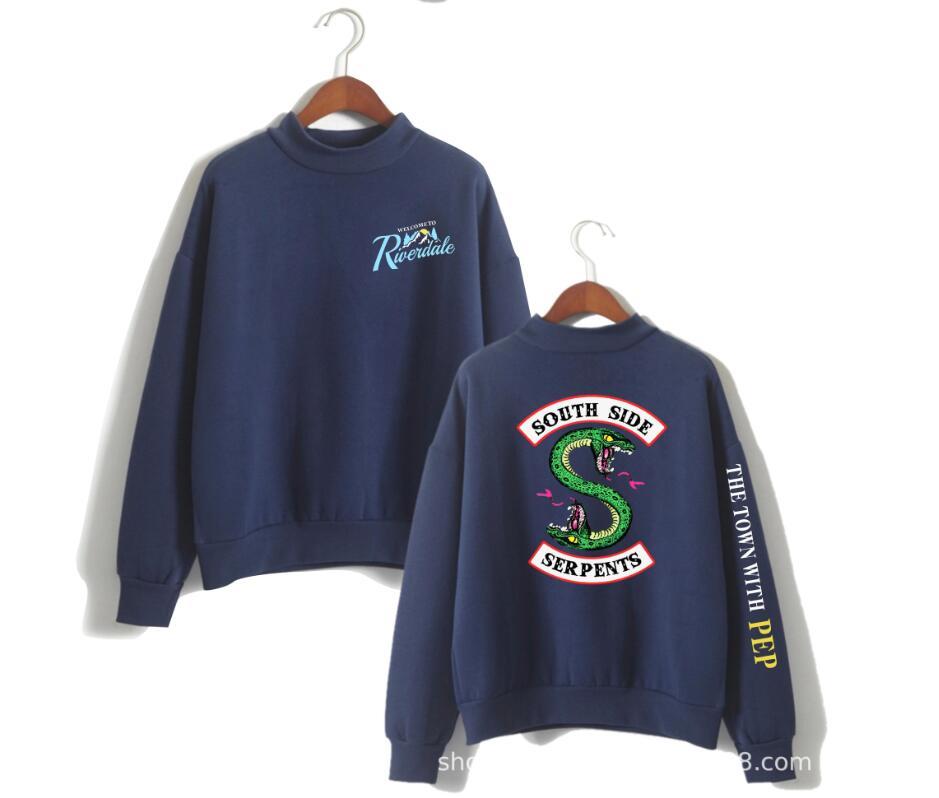 clothing sweatshirt riverdale hoodie Sleeve Fans southside serpents hood size woman Casual Female costume hoddie men Sweatshirt in Hoodies amp Sweatshirts from Women 39 s Clothing