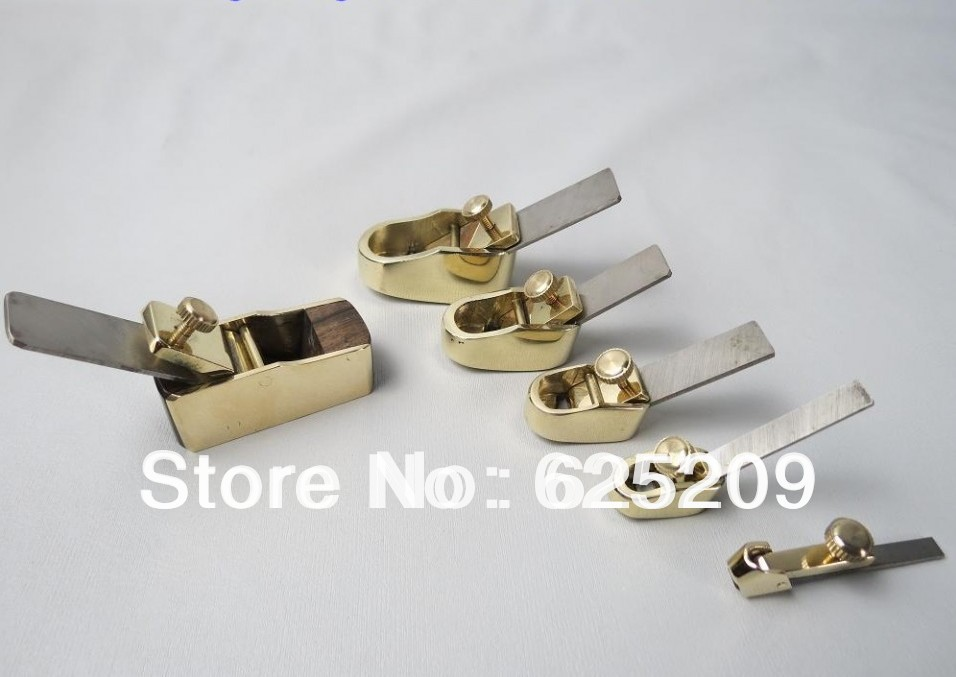 5pcs differend sizes convex brass planes and 1pc brass and black wood plane violin making tool woodworkingluthier tools