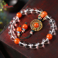 Aladdin Crystal 2018 China Wind Style Bracelets Eighteen Beads of The qing dynasty palace Nature Quartz and coloured glaze