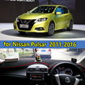 car dashmats car-styling accessories dashboard cover  for Nissan Pulsar  C12 C13 2011 2012 2013 2014 2015 2016 2017 rhd