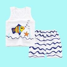 Cute Summer Cartoon Themed Cotton Baby Boy's Pajamas