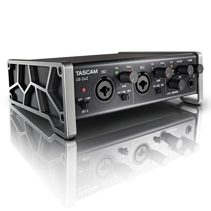 tascam us 2x2 usb audio interface professional recording sound card with microphone amp support. Black Bedroom Furniture Sets. Home Design Ideas