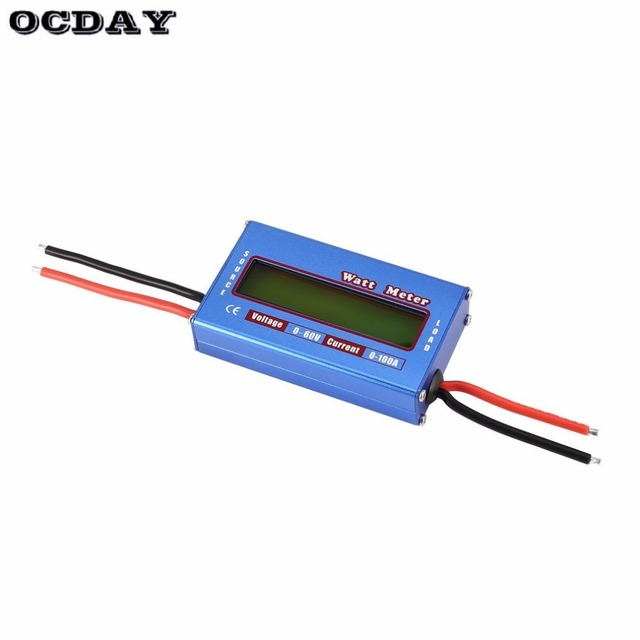Balanza Digital de potencia de voltaje vatios actual medidor de energía Analizador de Checker para RC aviones no tripulados de la batería 60 V 100A Wattmeter
