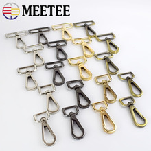 10pc 16-50mm Meetee Handbag Straps Metal Buckles Collar Lobster Clasp Swivel Trigger Clips Snap Hook DIY Leather Craft Accessory цена