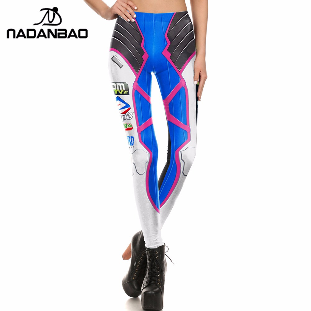 NADANBAO Brand  Women Leggings Super HERO D.VA Game Leggins Printed Legging For Woman Pants