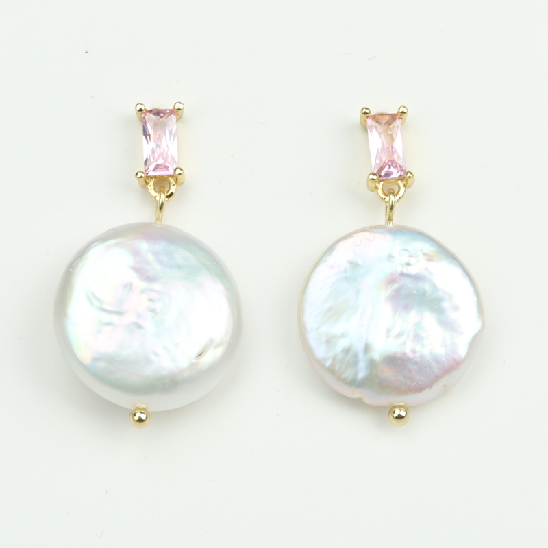 Jewelry crystal earrings Drop Fashion Pearl Earrings INS Celi*e Style green stonePearl buttons Gifts for woman EAP