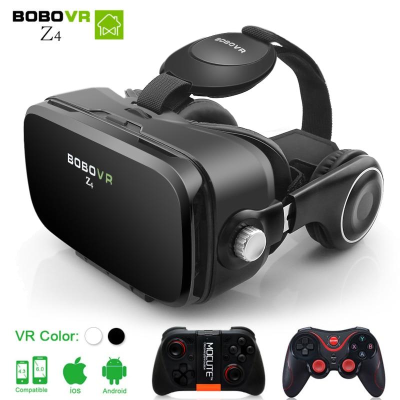 очки виртуальной реальности VR КОРОБКА BOBOVR Z4 VR Очки Виртуальной Реальности очки 3D очки google Картон мини 2.0 бобо vr гарнитура Для 4.3-6.0 смартфон очки виртуальной реальности