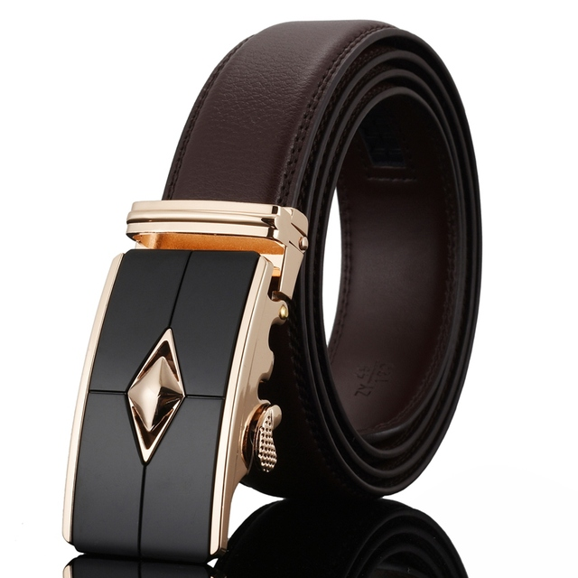 WOWTIGER New Man Belt Designer Male Strap Automatic Buckle Leather Jeans Men Luxury Belts for men