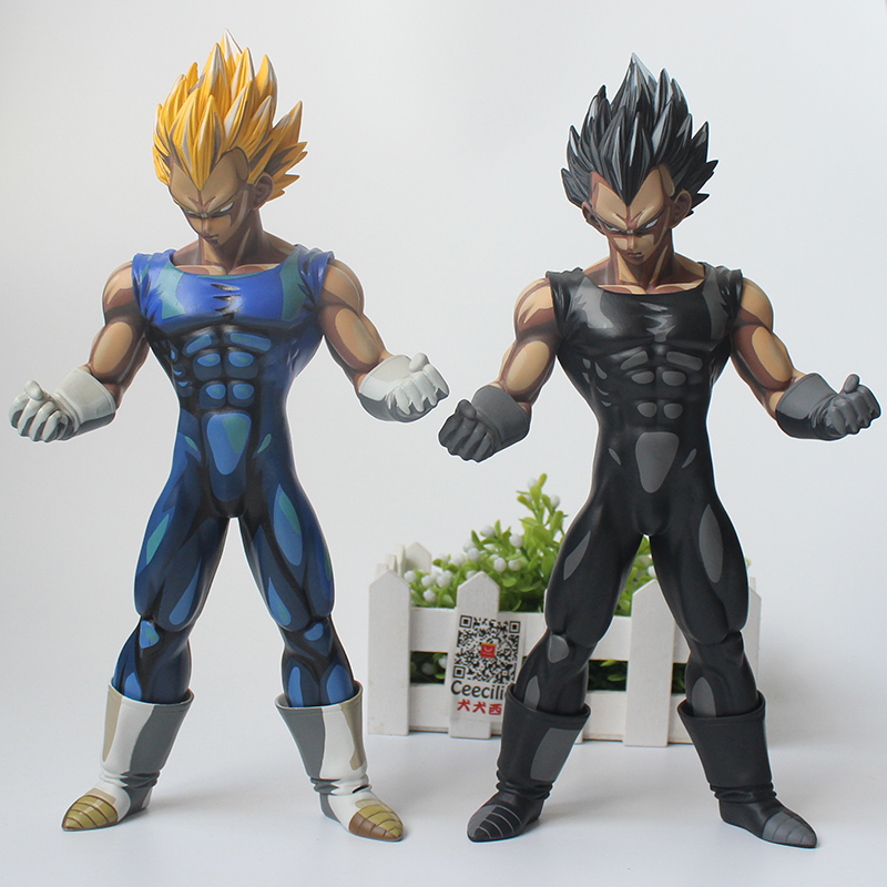 2style Anime Dragon Ball Z Vegeta Super Saiyan Manga Chocolate Color Version PVC Action Figure 26CM new orchid seed yuuko yuko sagiri tomoko darkness with 2 swords triage x sexy two color version 32cm action figure