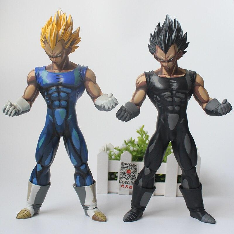 2style Anime Dragon Ball Z Vegeta Super Saiyan Manga Chocolate Color Version PVC Action Figure 26CM