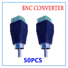 50 pieces BNC CCTV Video Balun passive Transceiver RCA Male Adapter For CCTV IP Camera Power Supply Surveillance Accessories