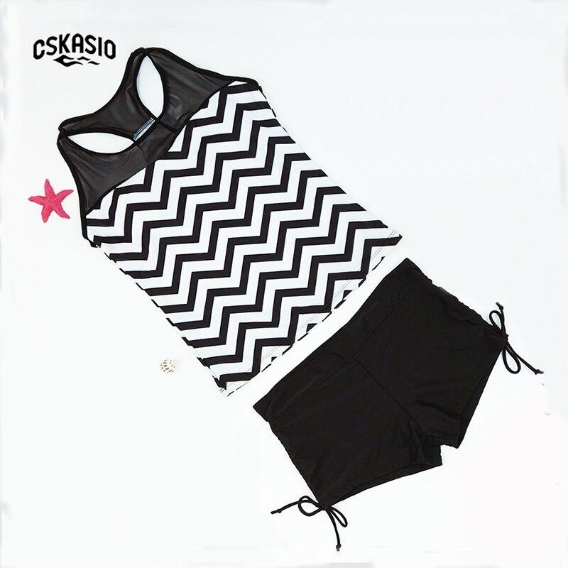 Neu Plus Size Zweiteiler Badeanzug Sportliche Badebekleidung Damen - Sportbekleidung und Accessoires