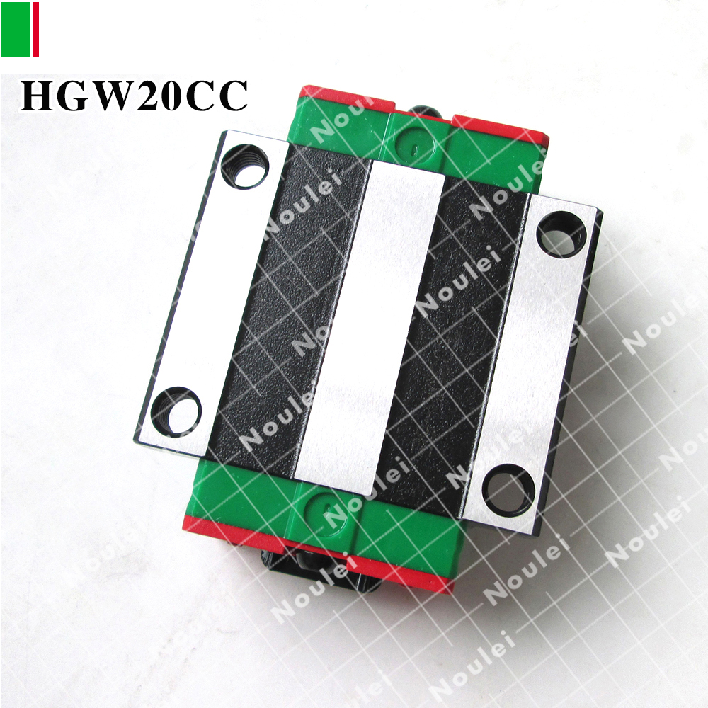 HIWIN HGW20CC slide block HGW20CA for 20 series HG linear guide rail 20mm CNC parts free shipping to argentina 2 pcs hgr25 3000mm and hgw25c 4pcs hiwin from taiwan linear guide rail