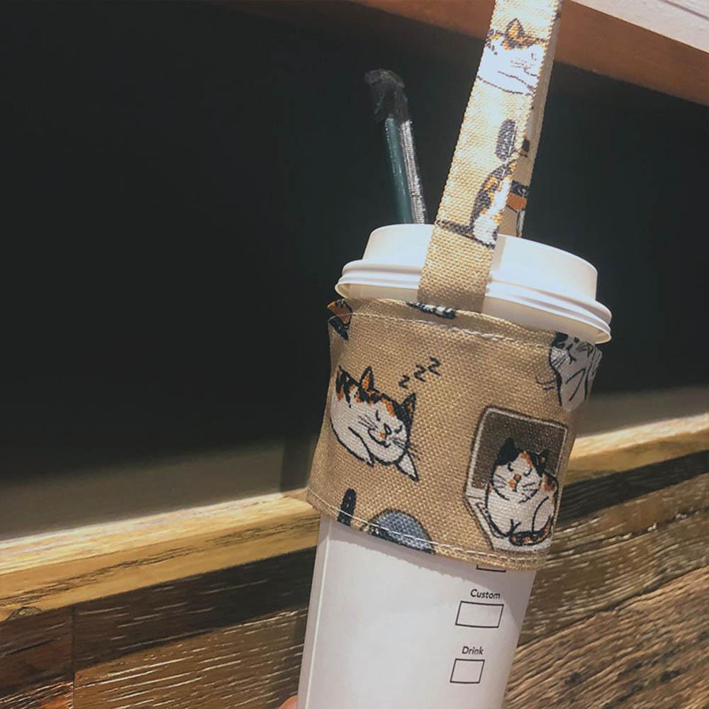 0.68US $ 26% OFF Portable Beverage Cup Sets Eco Friendly Tea Milk Juice Cup Carrier Bag Storage Stra...