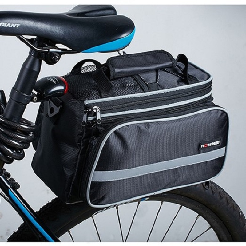 HOTSPEED 3 Color 25L Bicycle Carrier Bag Rear Rack Bike Trunk Bag Luggage Pannier Back Seat Double Side Big Capacity Cycling Bag outdoor bicycle bag bike double side rear bag
