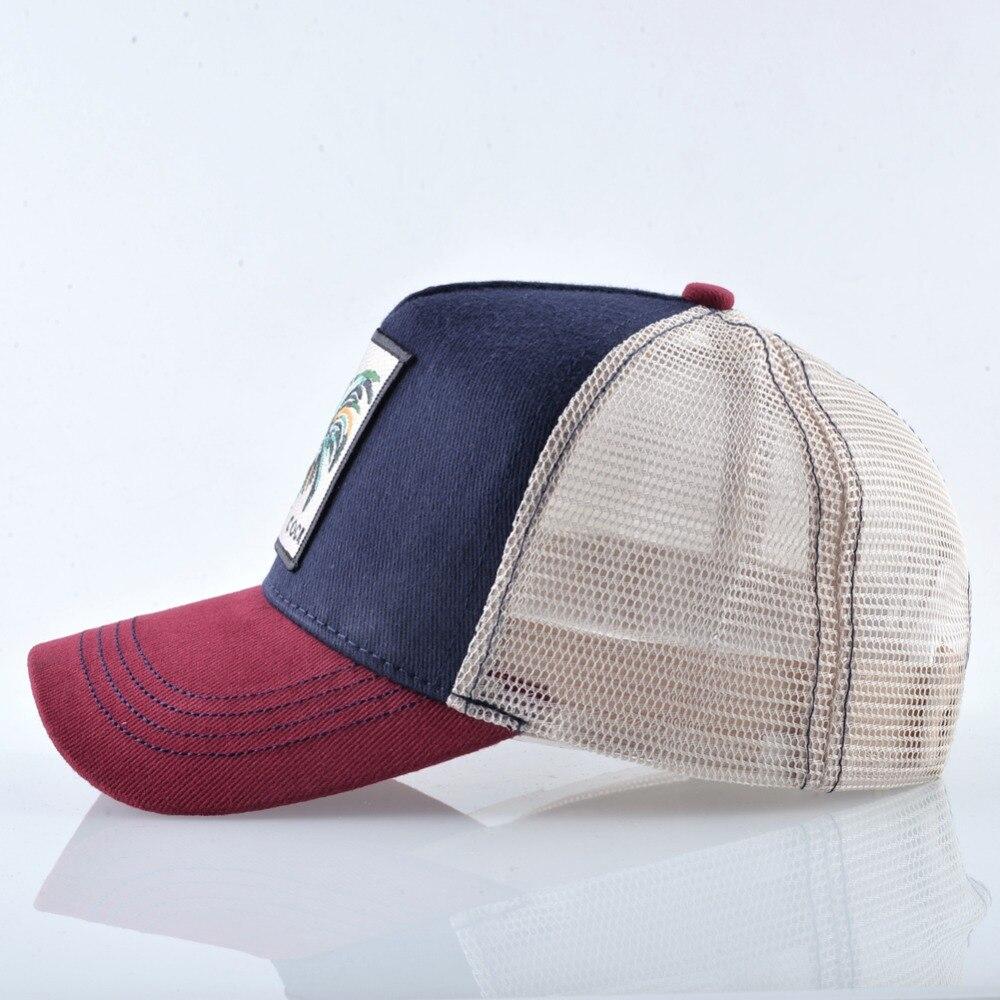 0813c2e36270de TQMSMY Summer Cotton Cock Baseball Cap Embroidery Mesh Hats For Men ...