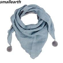 Весенний хлопковый детский треугольный шарф в горошек, однотонный осенне-зимний шарф для маленьких мальчиков, шарф для девочек, нагрудник малыша
