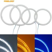 FEELDO 4pcs/Set Car LED Halo Rings Angel Eyes DRL Head Lamp For Hyundai Elantra (04 06) #FD 3217