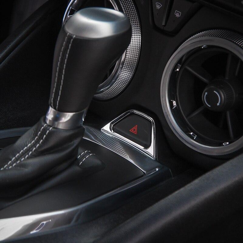 kopen goedkoop shineka abs noodverlichting knop frame cover trim voor chevrolet camaro 2017 auto accessoires interieur moulding prijs