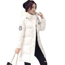 2017 Модные женские зимние куртка с капюшоном теплая ярких цветов Большие размеры 3XL куртка женская хлопковая утепленная парка jaqueta feminina