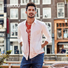 Casual pocket 100% cotton slim fit high quality Shirt